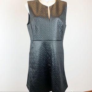 Natori quilted maze black cocktail dress